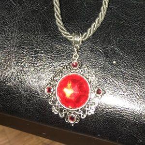 Vintage 1928 Crystal Ruby Red  Necklace 💥NWOT💥